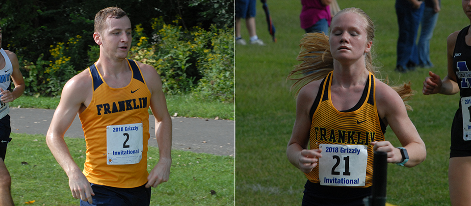 Blaine Conners (left) and Taylor Wooten (right) turned in strong finishes on Saturday