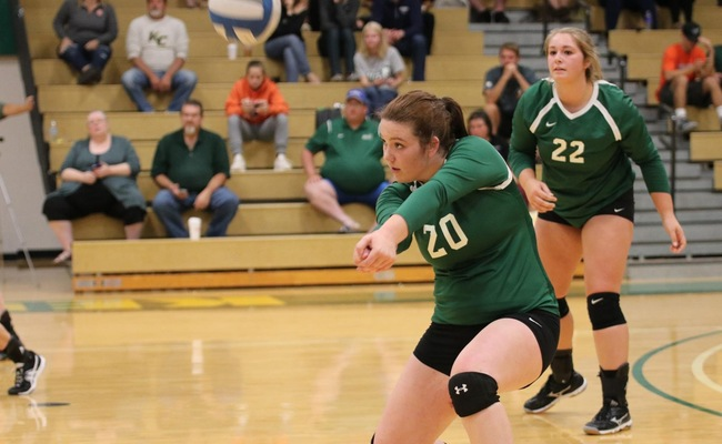 Lauren Moelbert (20) had 13 kills and 12 digs for Keuka College on Tuesday