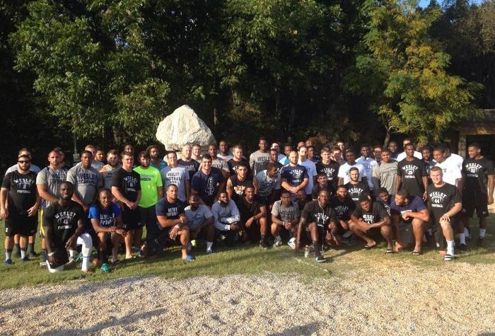 Football Visits Historic Edmund Pettus Bridge in Selma, Alabama