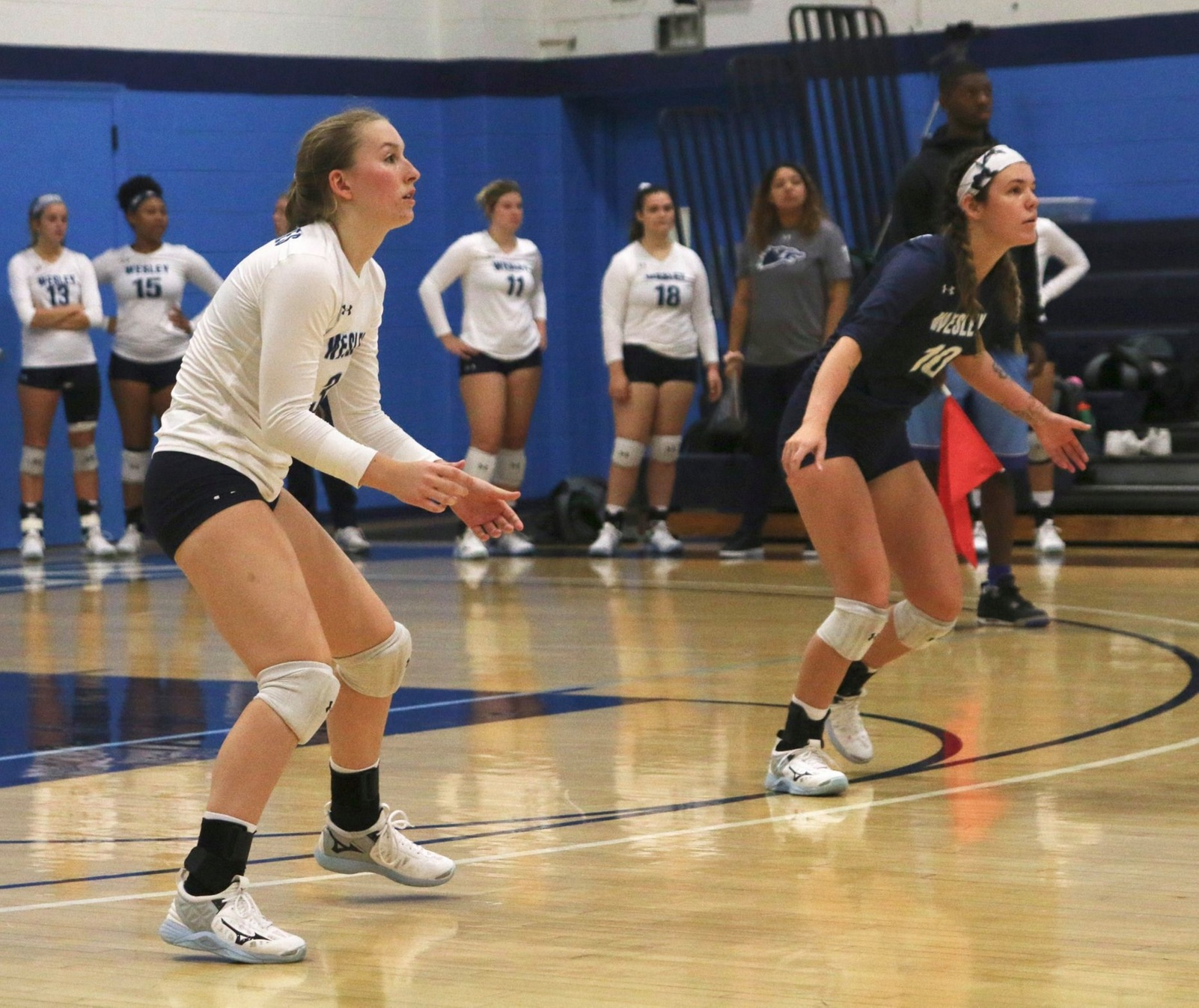 Volleyball Falls in Tri-Match at Washington College