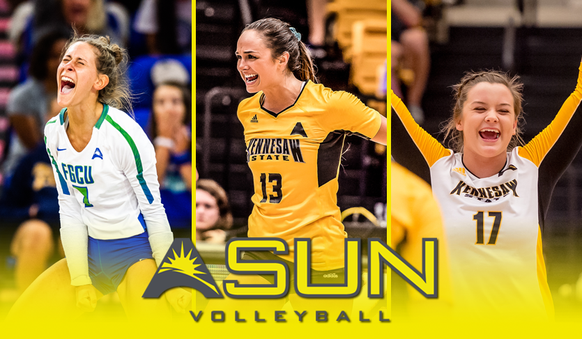 KSU's Chastang & Groover and FGCU's Axner Earn @ASUNVolleyball Weekly Nods