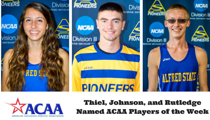 Lindsey Thiel, Ryan Johnson, and Shawn Rutledge named Athletes of the Week