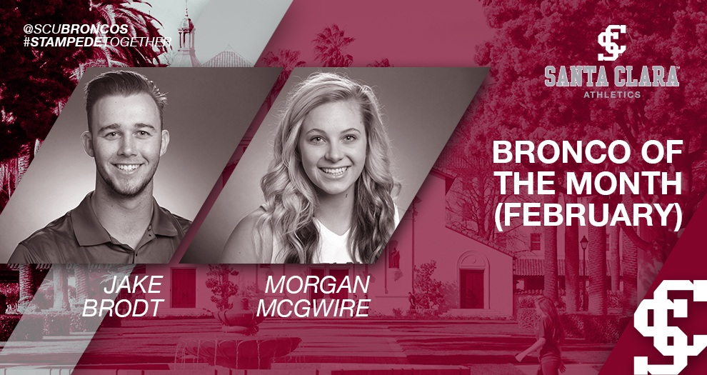 Brodt, McGwire Bring Home SAAC Broncos of the Month for February