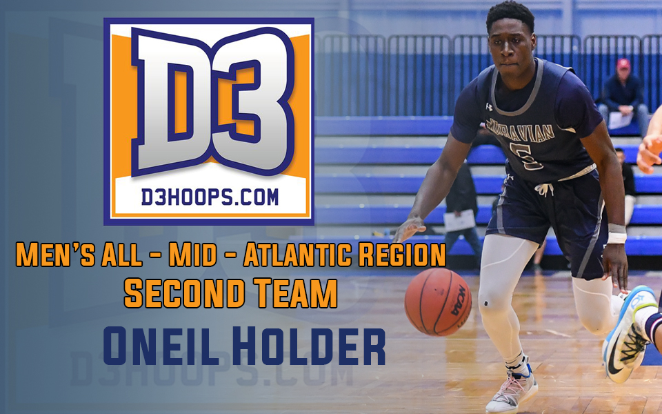 Oneil Holder selected to D3hoops.com All-Middle Atlantic Region Second Team.