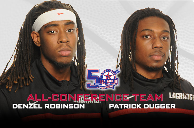 Men's Basketball: Dugger, Robinson selected to USA South All-Conference teams