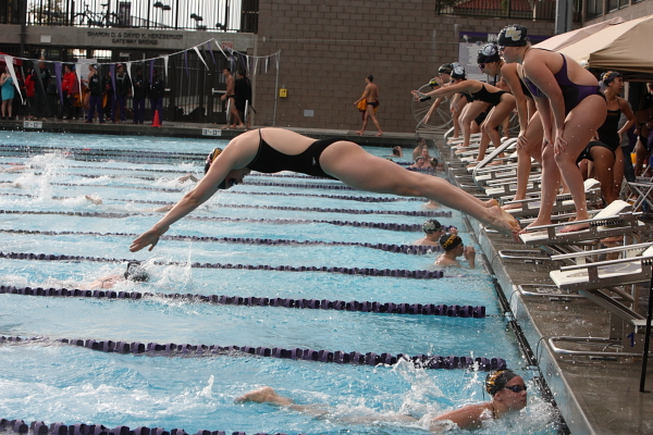 Pool records fall as Athenas and Stags defeat Caltech and Cal Lu