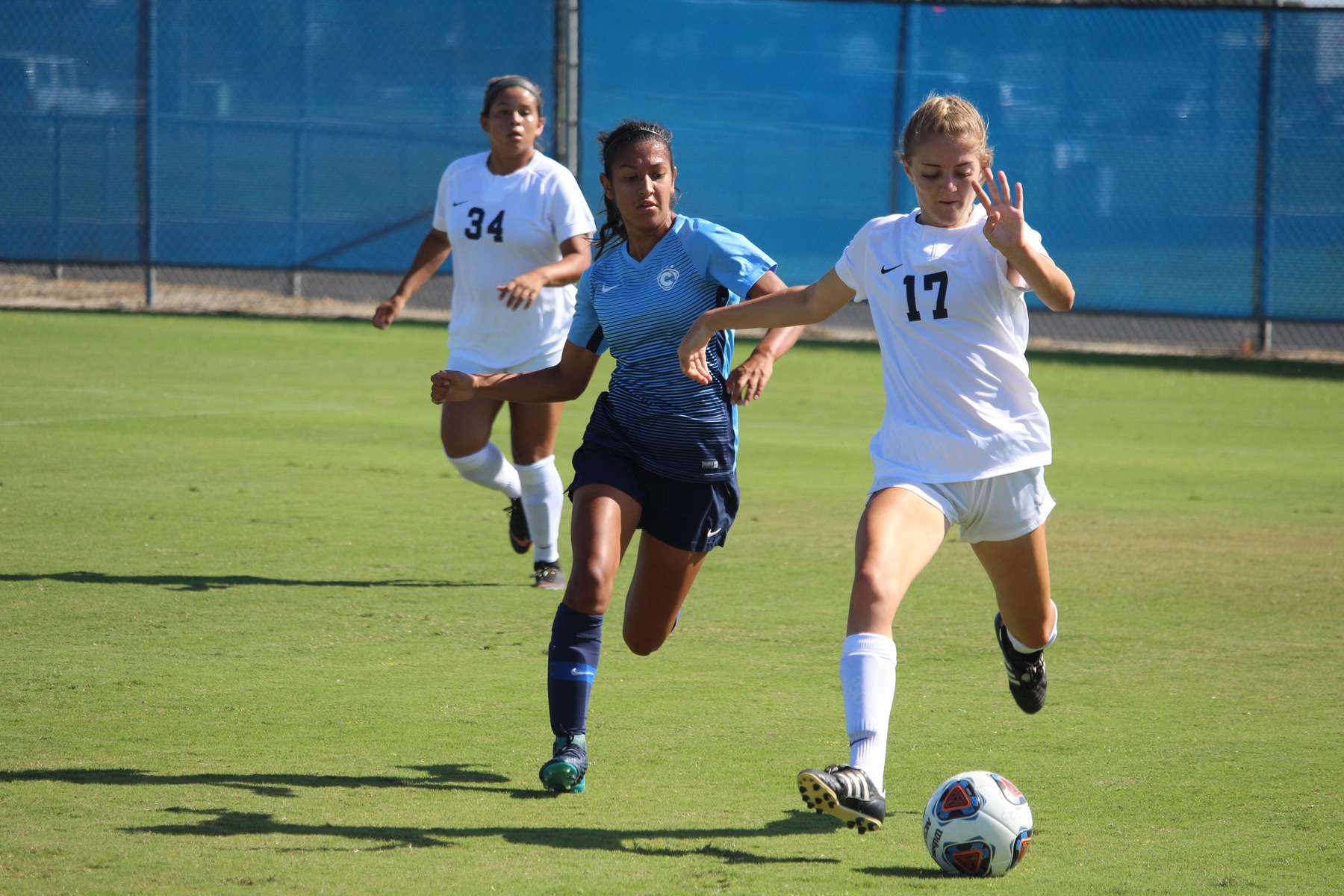 Lady Chargers Knock Off No. 10 Fullerton, 3-0