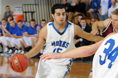 Monks Edged by Eagles, 81-78