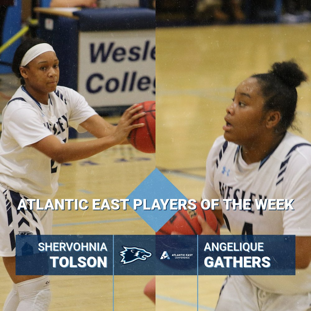 Gathers, Tolson Earn Atlantic East Player of the Week Honors