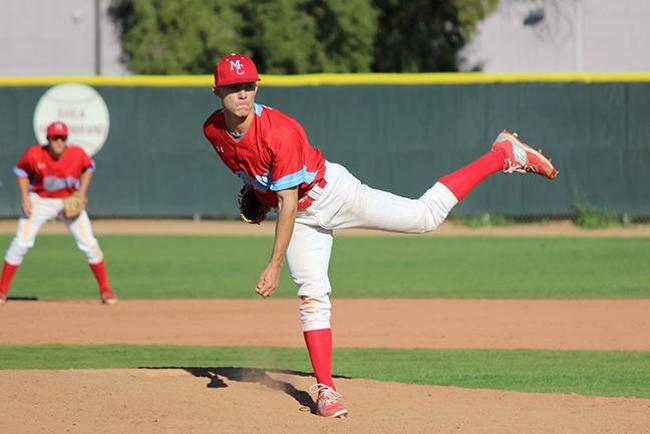 Matt Mosca's eight strong innings keyed Mesa's playoff win (Photo by Aaron Webster)
