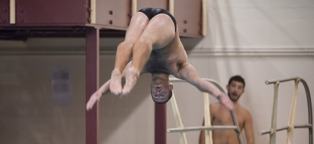 Lewis Breaks 10-Year Old School Record on 3-Meter Board at NCAA Diving Regional Championships