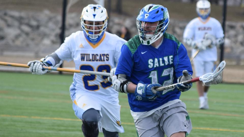 Salve Regina scored seven straight goals to begin the fourth quarter in a 21-13 victory (Photo by Ed Habershaw).