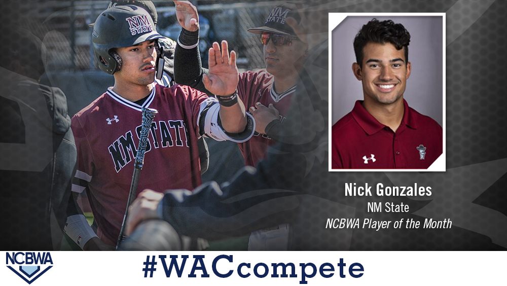 NM State's Gonzales Named NCBWA Player of the Month