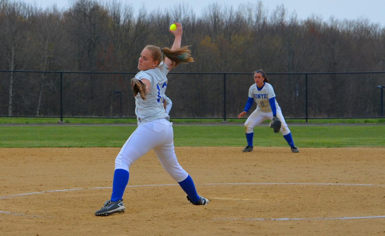 Softball Earns Split with Keuka on Extra-Innings Win in Game Two