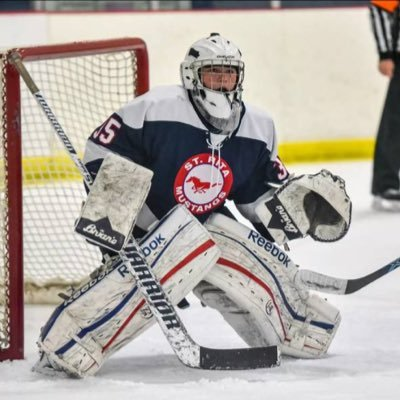 Congrats to Senior Goalie Kyle Gustafson for being named regular season MVP of the Chicago Catholic Hockey League!