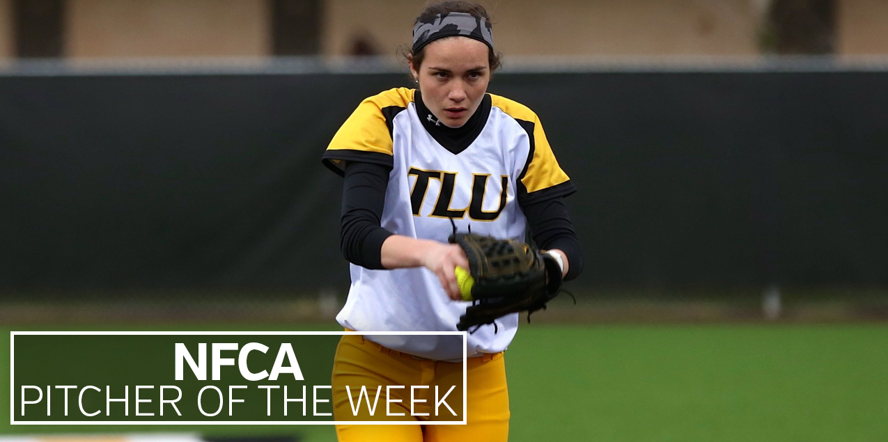 Texas Lutheran's Maitlin Raycroft Collects Second Straight NFCA Pitcher of the Week Honor