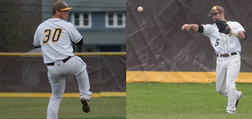 Senior ABCA/Rawlings All-Mideast Region and All-OAC pitcher Evan Lovick and senior All-OAC right fielder Alex Marcum