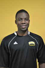 Joe Adewumi won all three singles matches at Navy.