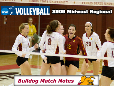 Ferris State Women's Volleyball Weekly Notes (NCAA Midwest Regional Tourney)