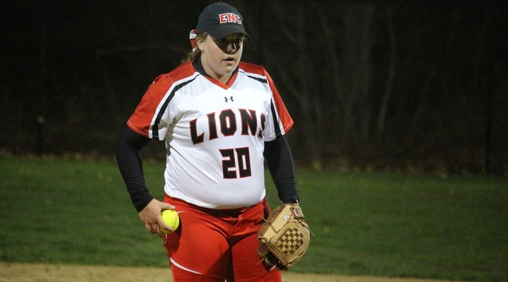 Softball Roars Back in Game Two to Earn Split with Elms