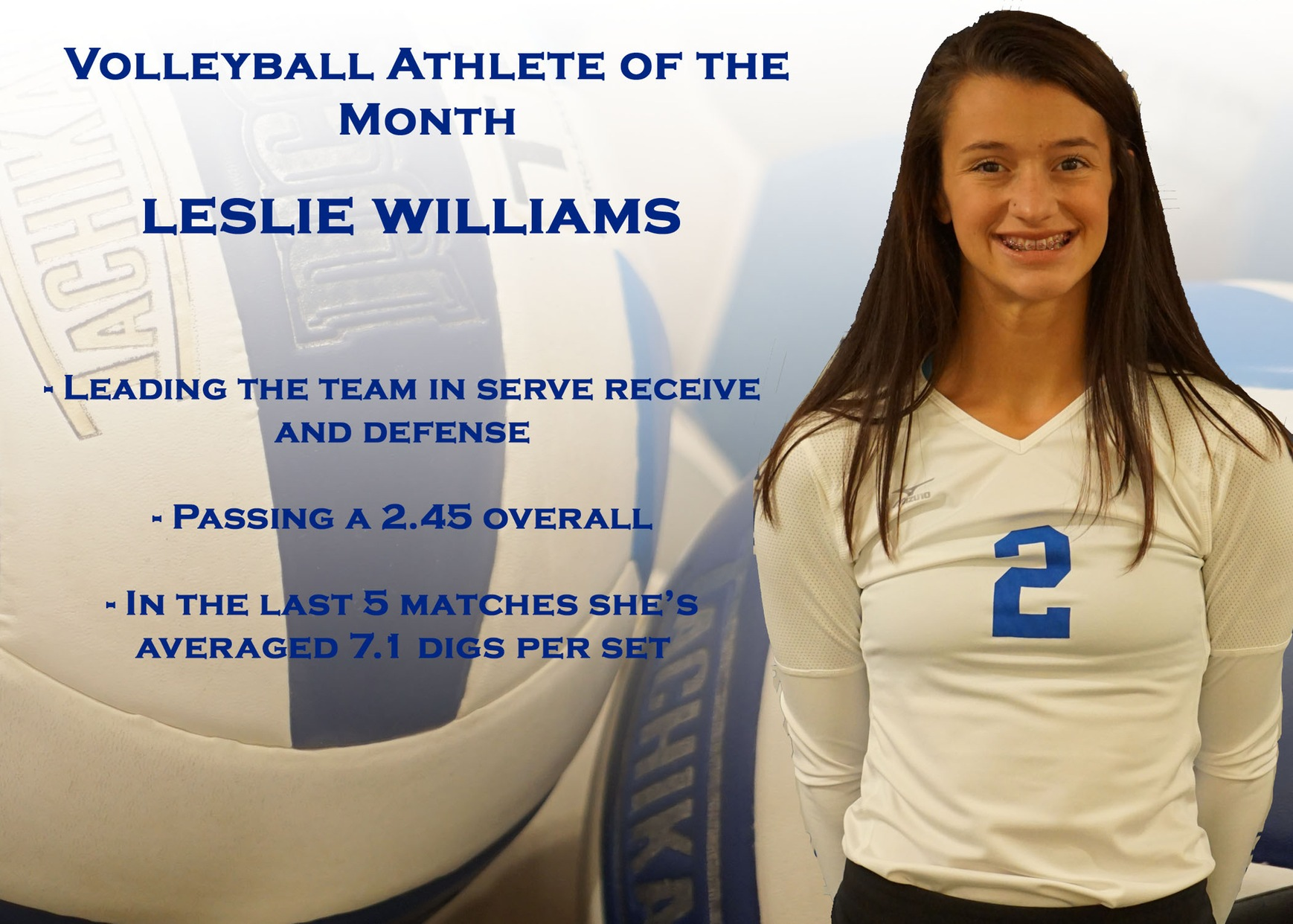 Women's Volleyball Athlete of the Month