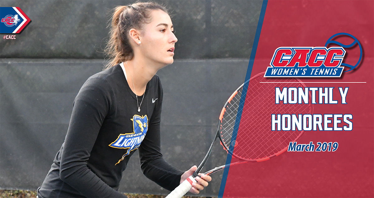 CACC Women's Tennis Monthly Honorees (March 2019)