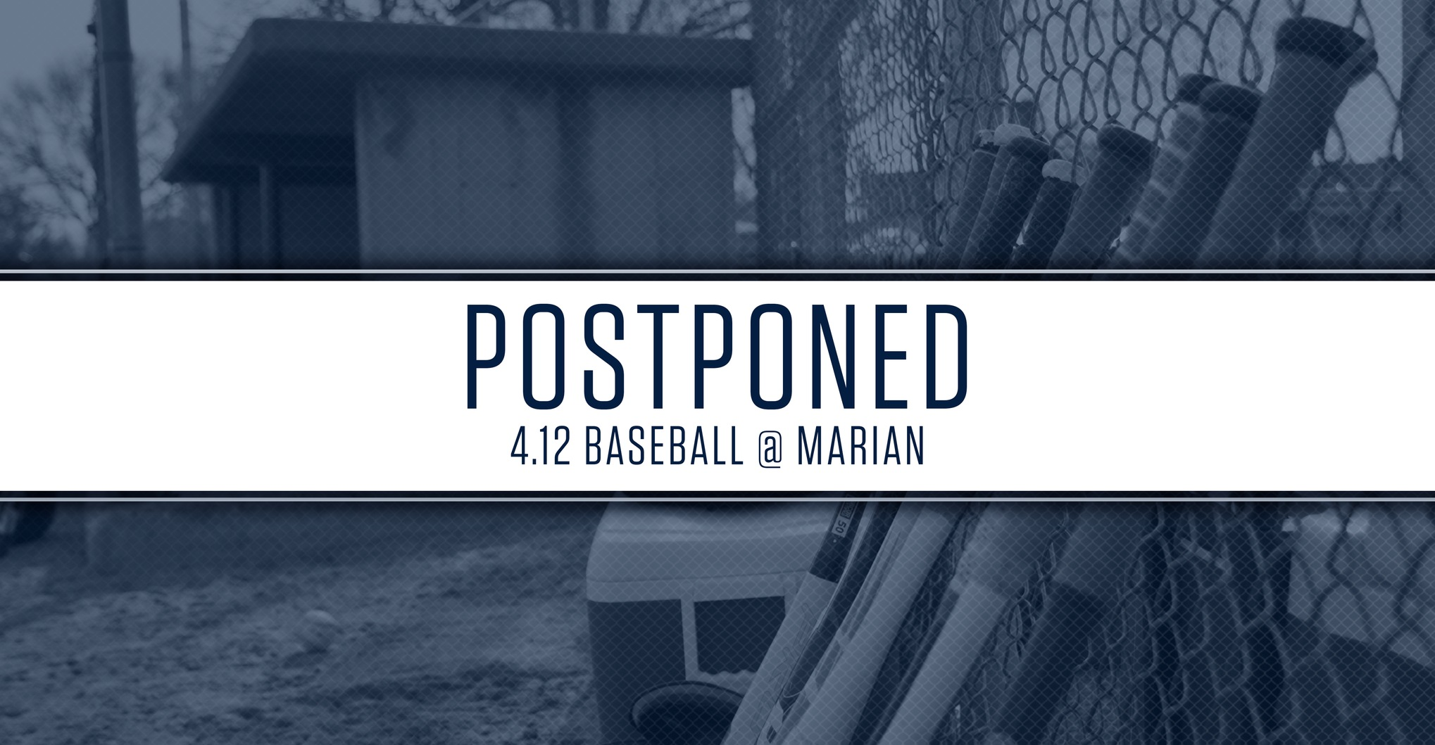 Postponed: April 12 Baseball Game