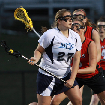 Macdonald Leads Lacrosse Past Bridgewater State, 16-10