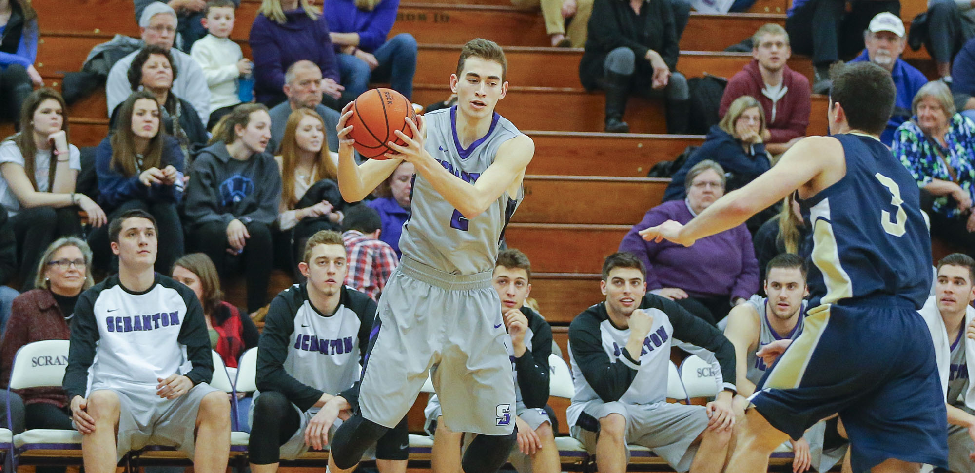 Junior guard Ethan Danzig hit six 3-pointers on his way to a team-high 22 points on Friday night.