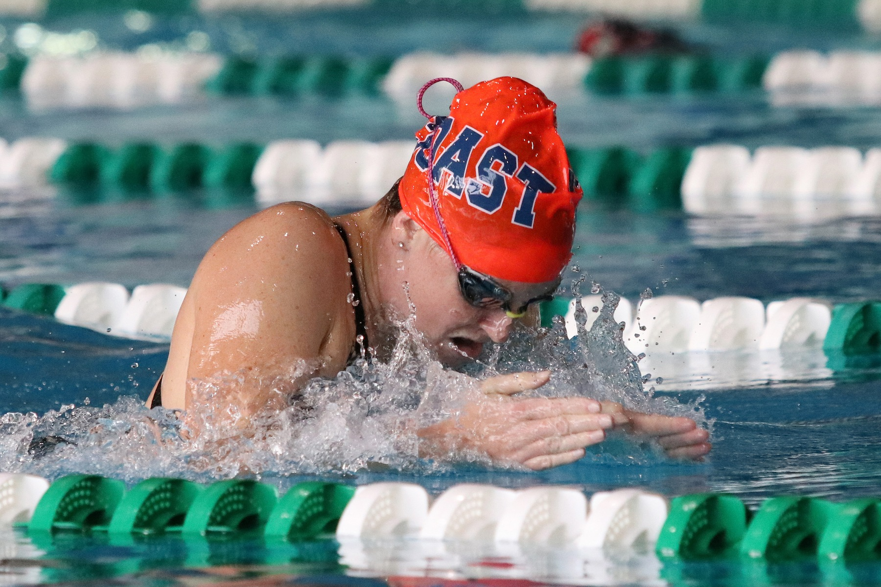 Cox helps lead Pirates to seventh-place showing at state swim championships