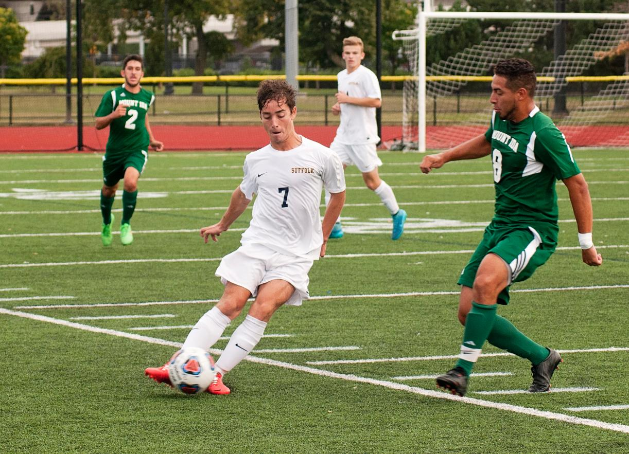 Men's Soccer Heads Across Town to Duel with Emmanuel