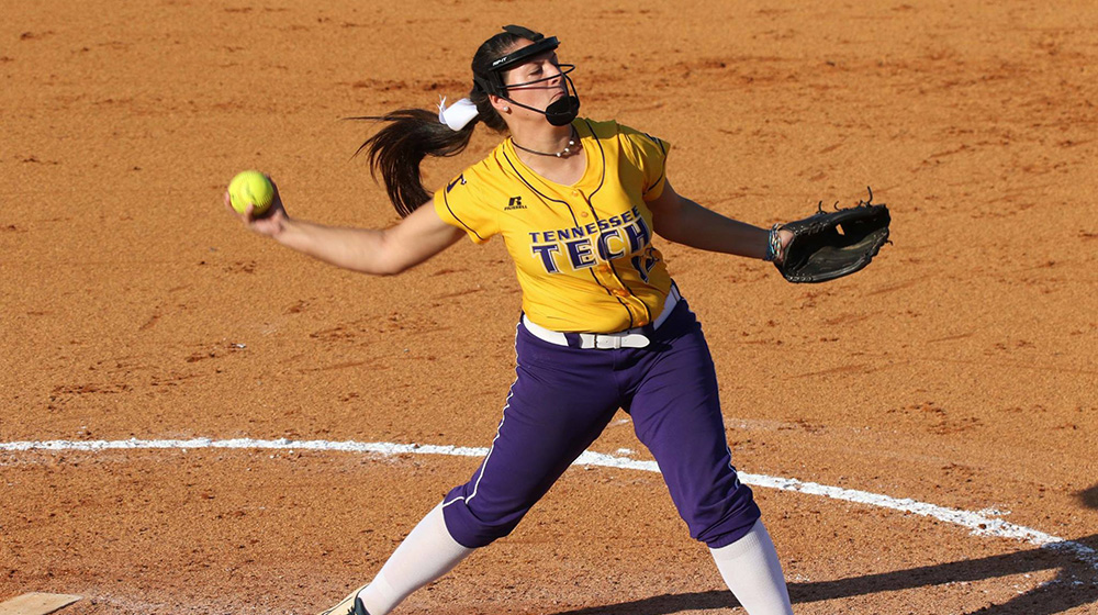 No-hit bid falls in seventh of first game, Tech softball blanked at Murray State