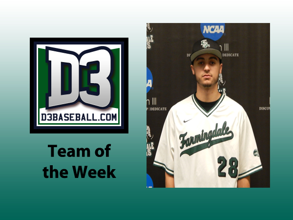 Otero Jr. Named to D3baseball.com Team of the Week