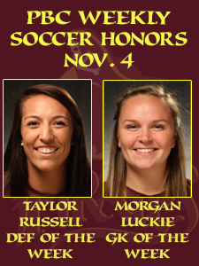 Russell, Luckie Earn PBC Women's Soccer Weekly Honors