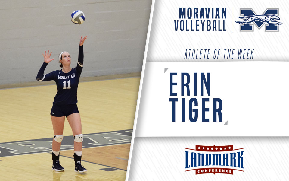 Erin Tiger named Landmark Conference Women's Volleyball Athlete of the Week