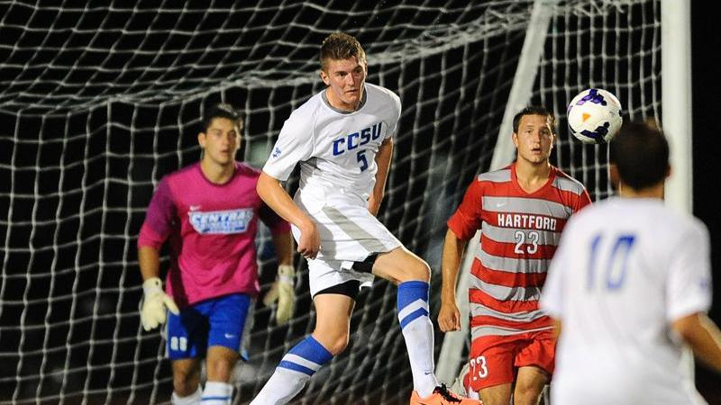 Men's Soccer Comes Back to Win at SHU, 4-3, in OT