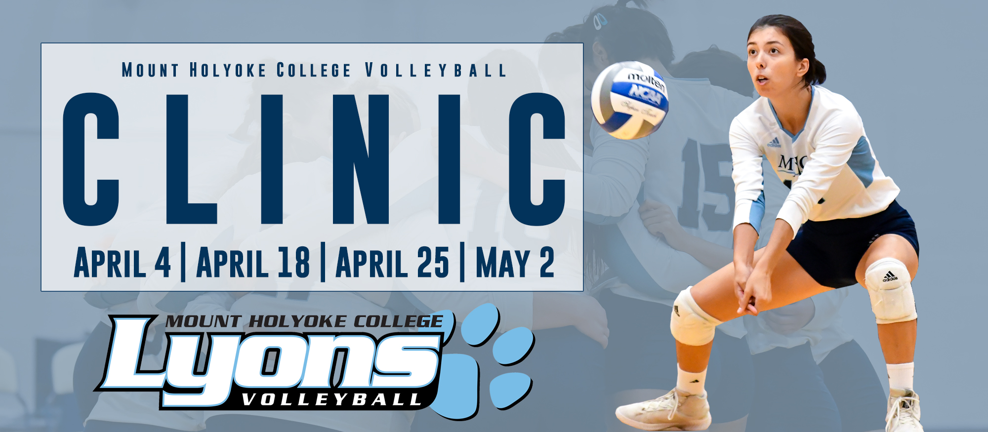 Volleyball to Host Clinics for Youth and Adults in April and May
