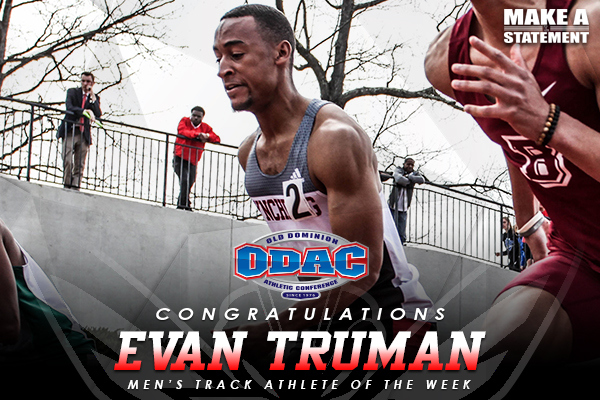 Truman Named ODAC Track Athlete of the Week