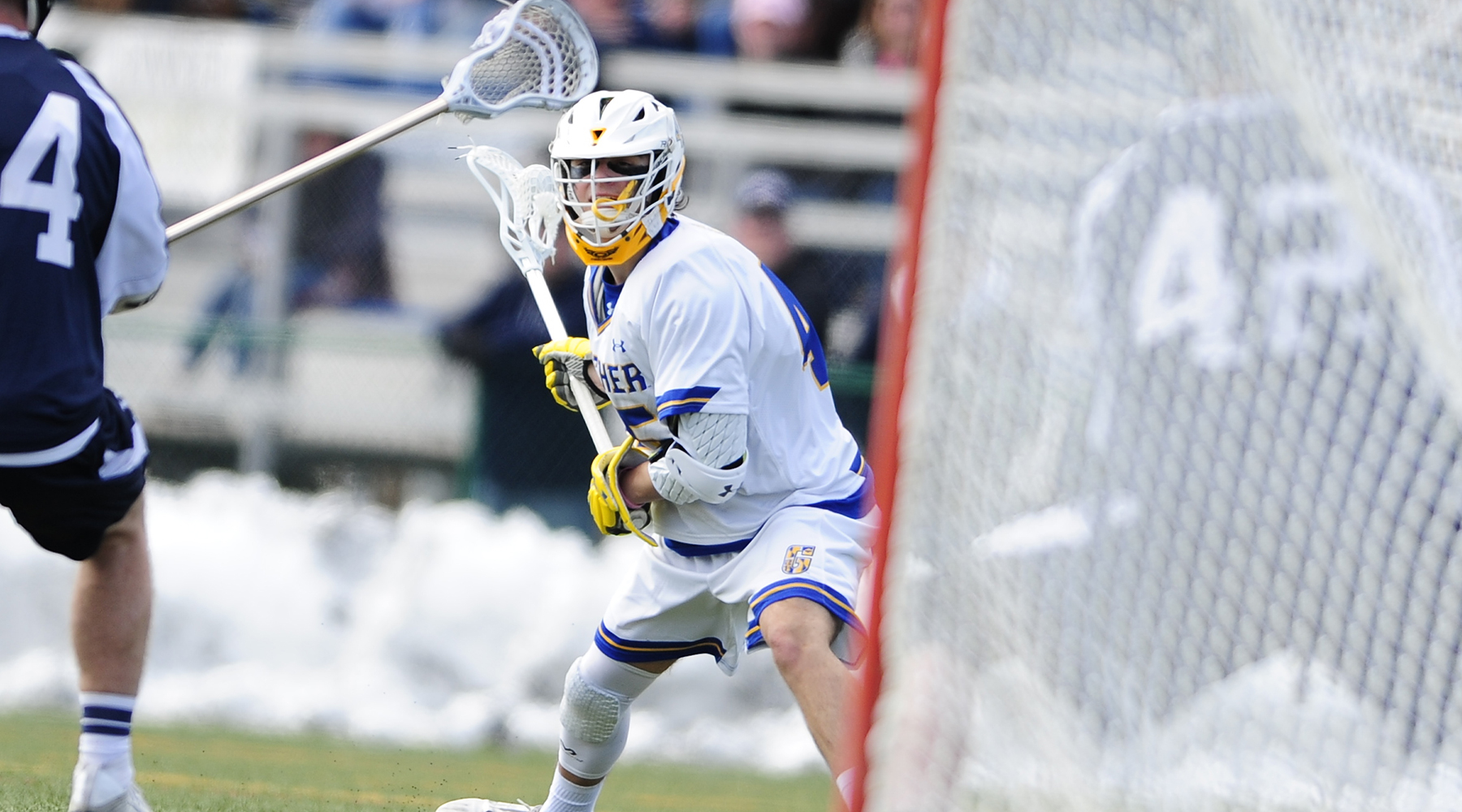 Harnish Nets Hat-Trick, as Men's Lacrosse Opens Season with 10-5 Win over Hood