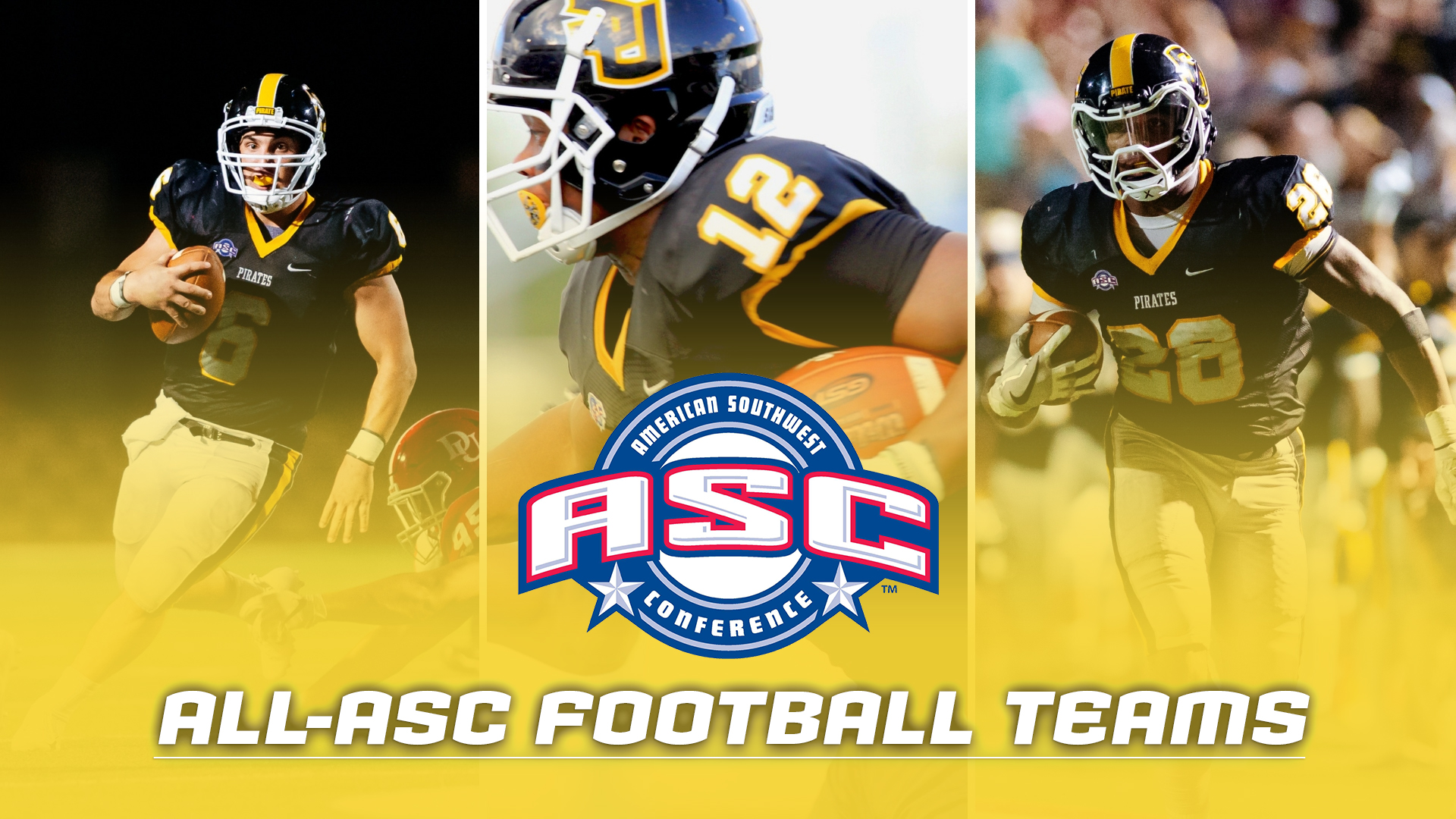 Ten Pirates Named To ASC Football All-Conference Teams