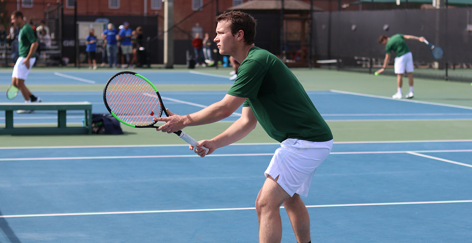 #23 Bobcat Men's Tennis Blanks Morehouse in Home Opener, 7-0