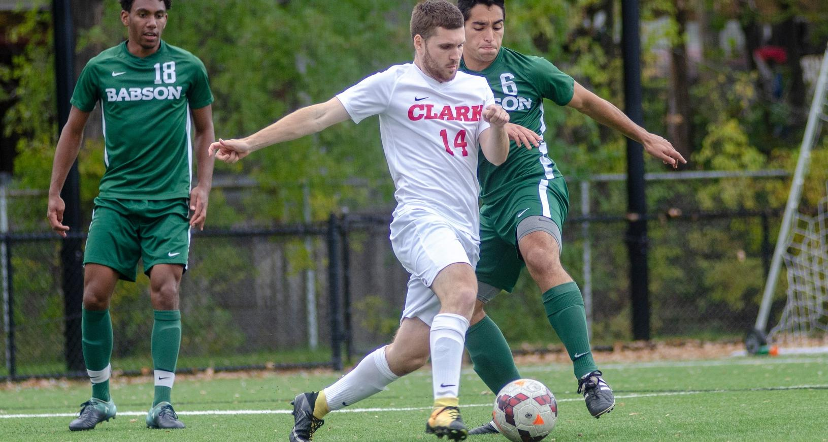 Two Second Half Goals Lifts Babson over Cougars