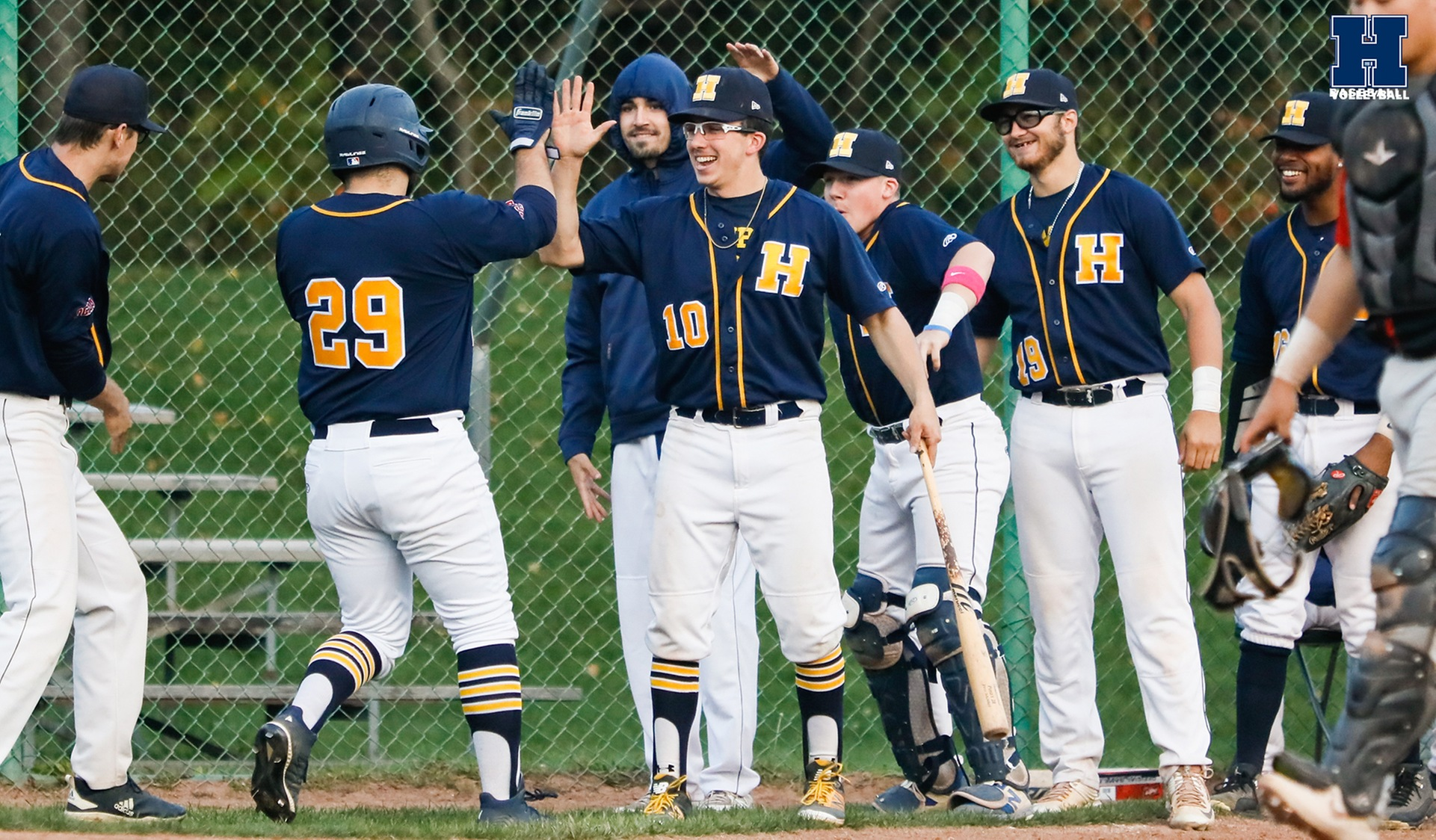 Baseball Splits With Seneca on Seniors Night