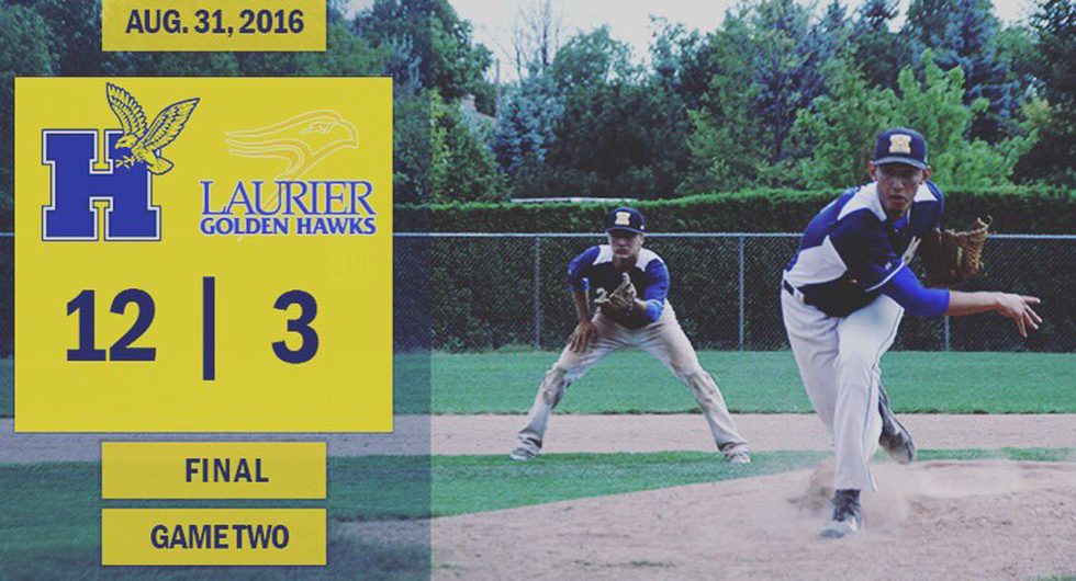 HAWKS COMPLETE SWEEP OF LAURIER WITH 12-3 VICTORY