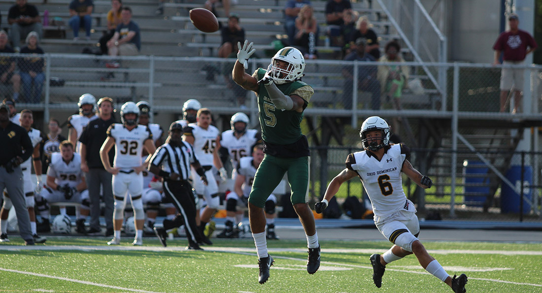Devin Butler had 56 yards receiving as the Dragons came from behind to beat Ohio Dominican 41-31.