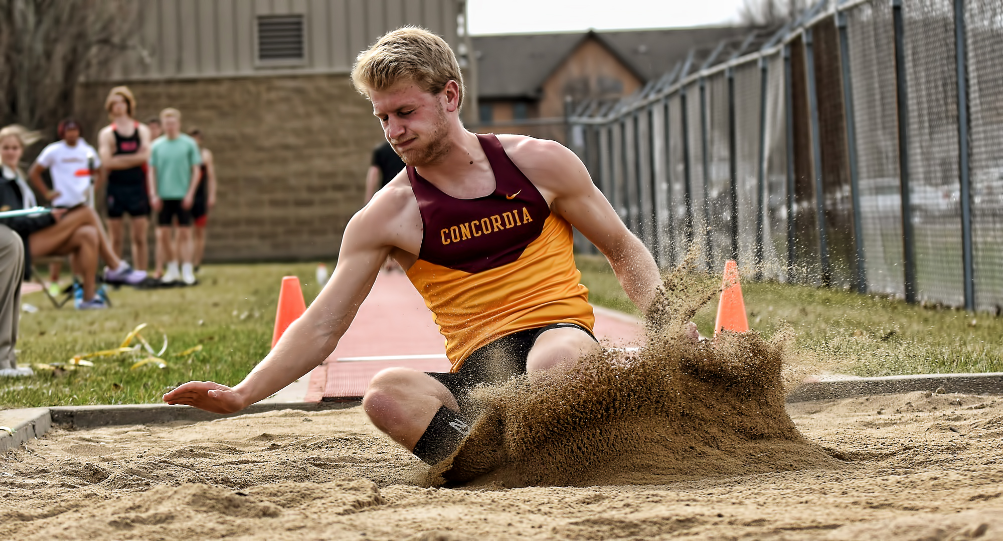Matt Bye became the seventh Cobber athlete to win the MIAC decathlon with a personal best score of 6,586 points.