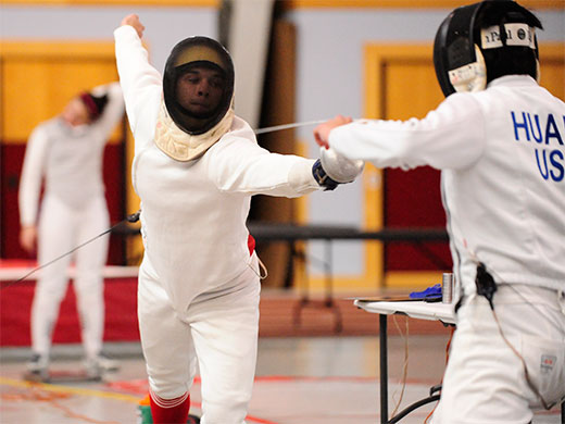 Men's fencing takes down Swarthmore, Drexel