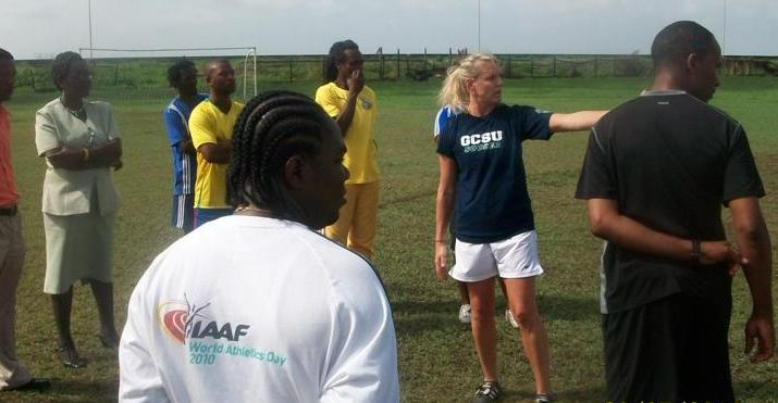 Bobcat Coach Works With Youth Soccer in Guyana