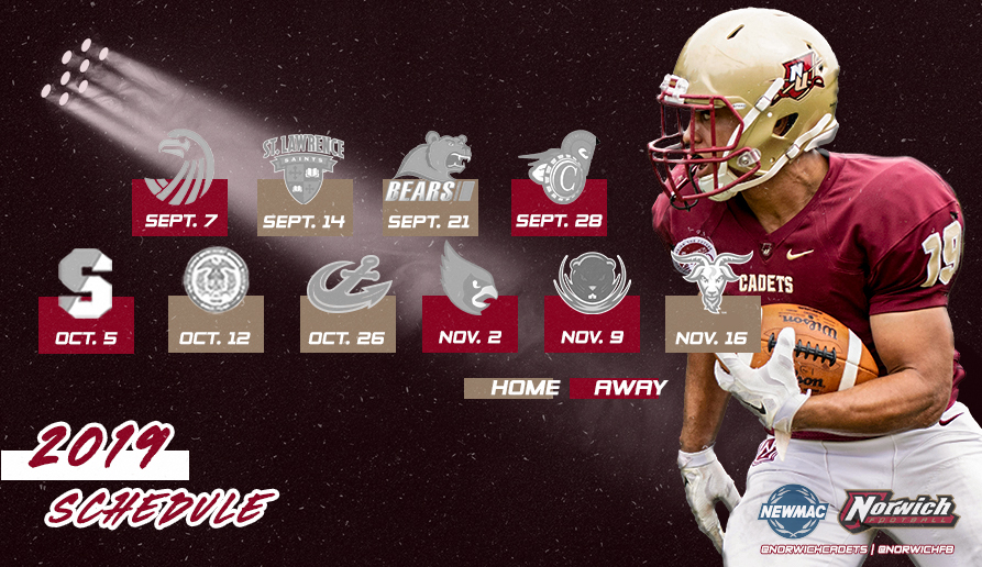 Schedule graphic for 2019 football season