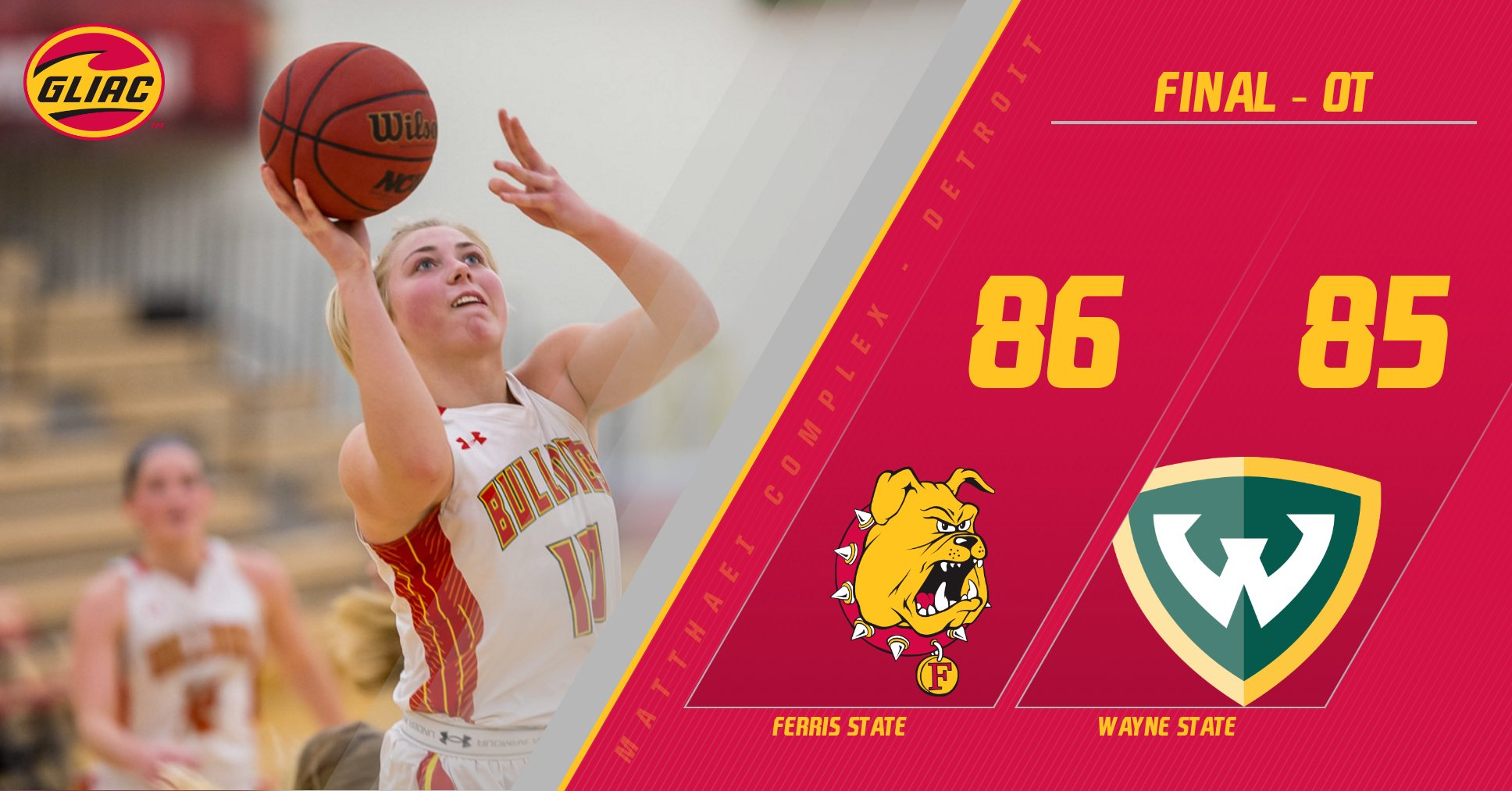 Ferris State Earns Buzzer-Beating Overtime Victory At Wayne State